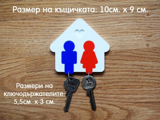 Закачалка за ключове къщичка