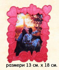 Рамка LOVE на сърчица