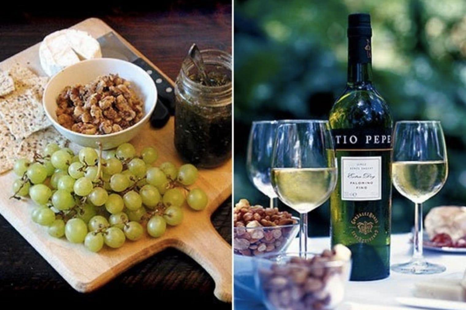 Изненада на вкуса на виното и сиренето
