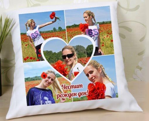 Подаръци със снимка - Възглавница с колаж от 5 снимки
