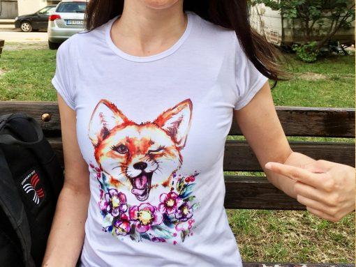 Дамска тениска със снимка по поръчка
