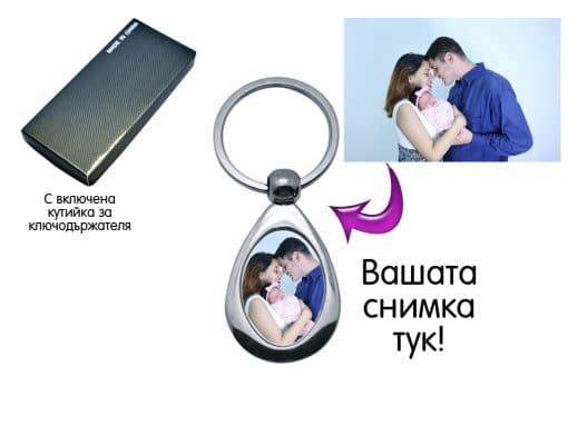 Ключодържател капка със снимка