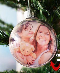 Коледна играчка сфера със снимка